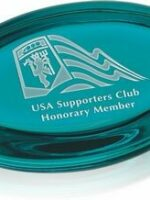 Etched paperweight for speaker award or thank you gift.
