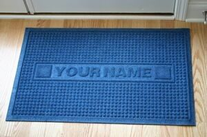 Personalized mats by Logo Mats. Great promotional items to say Thank You.