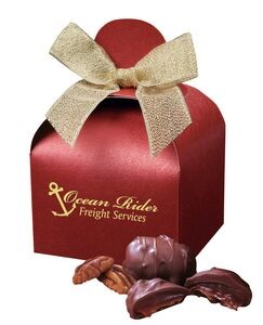 Imprinted gift boxes containing candy for food gift marketing