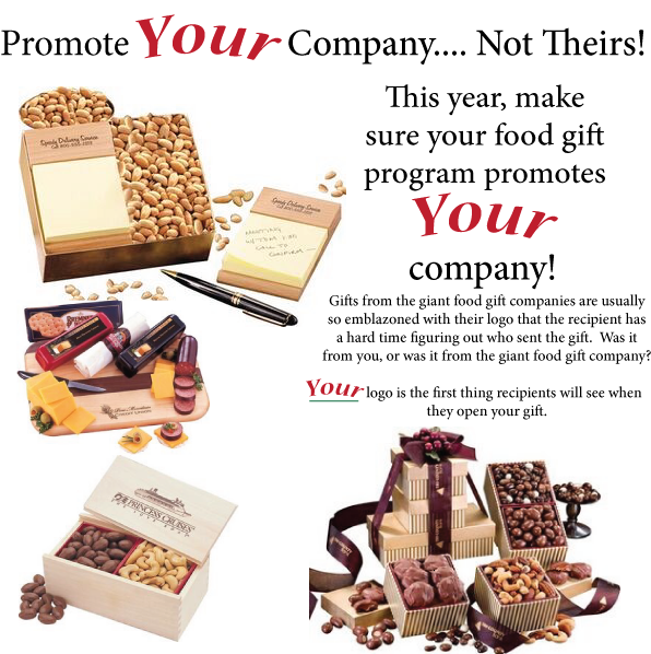 Assorted food gifts for Christmas and holiday gift giving.