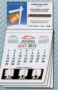 Magnetic business card calendars for promotional marketing