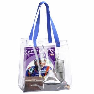 "Clear stadium tote for NFL games 12""x12""x6"""