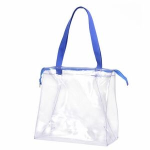 "XNLEE-JDKRJ Clear Zippered Stadium Tote 12""x12""x6"""