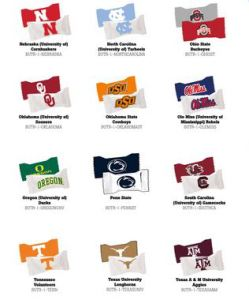 Your college team logo with candy inside.