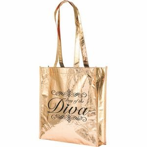 Swag Back, gold shiny tote bag