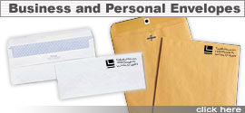 Order custom personal and business envelopes.