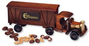 Wooden 1920 Tractpr-Trailor with Chocolate Almonds and Jumbo Cashews.