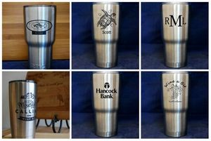 Custom Engraved RTIC Stainless Steel Tumblers