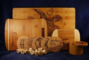 Assorted Bamboo products for corporate gifts.