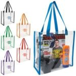 Colored trim, clear tote, stadium ready