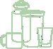 Cups, mugs, bottles, tumblers, glassware