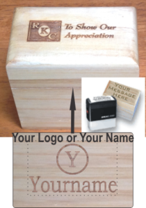 Engraved Box Stamp with 4914 stamp.