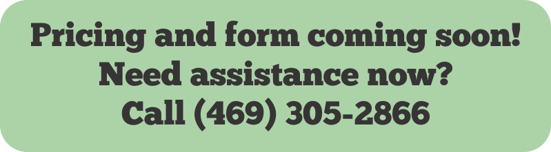 This form is coming soon. Need help now? Call us