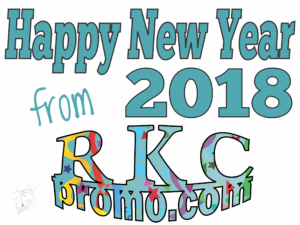 Happy New Year 2018 from RKC Promotional Products