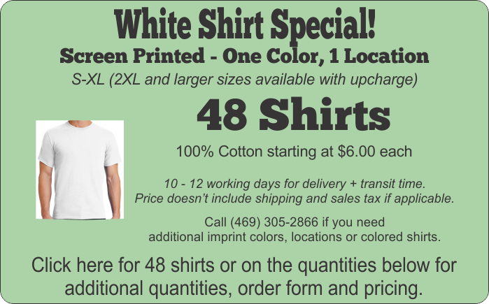 White Shirt Special